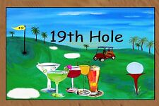 Golf 19th hole Bar Floormat  20 ounce loop style from Original Art
