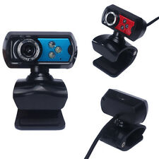 USB HD Webcam Camera Computer Web Cam With Microphone Mic LED For PC Laptop