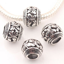 10/20Pcs Spacer Loose Round Tibet Silver Carving Butterfly Hollow Out Bead 10mm