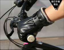 Outdoor Cycling Driving Motorcycle Mens Thicken Warm Winter Gloves Black/ Brown