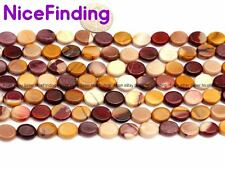 """Oval Mookaite Jasper Natural Stone Loose Beads For Jewelry Making Gemstone 15"""""""