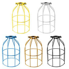 Steel Wire Bulb Cage Clamp On Lamp Guard Vintage Trouble Lights Industrial Shade