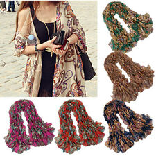 New Fashion Bohemia Style Vintage  Women Totem Flowers Long Scarf Shawl Wrap