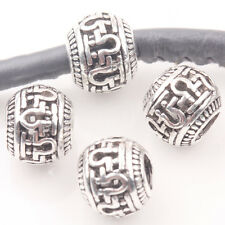 10/20Pcs Hollow Korean Word Tibet Silver Loose Spacer Beads 10MM Charms Makings
