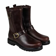 Harley-Davidson Mens Ryan Brown  Leather Casual Dress Zip Up Boots Shoes