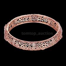 Beauty Bracelet 18K GP Crystal Exquisite Hollow Flower Bangle Wristband Jewelry