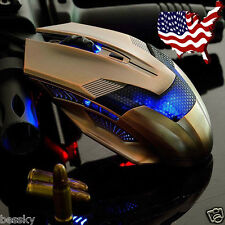 Luxury 2000DPI Optical Adjustable Wired Gaming Mouse Game Mice For Laptop PC HOT