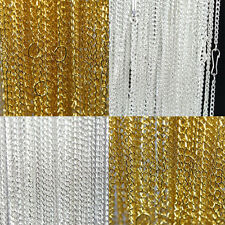 Wholesale 10/100Pcs Gold/Silver Plated Filigree Metal Chain Necklace DIY 3x2mm