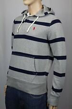 Polo Ralph Lauren Grey Navy Blue Rugby Hoodie Sweatshirt Red Pony NWT