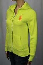 Ralph Lauren Neon Yellow Full Zip Hoodie Sweatshirt Big Pony NWT