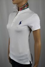 Ralph Lauren Sport White Big Pony Plaid Polo Shirt NWT