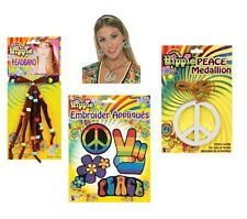 1960s HIPPY HIPPIE PEACE SIGN ACCESSORIES FANCY DRESS PARTY