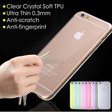 0.3mm Ultra Thin Clear Crystal Transparent Soft TPU Case for iPhone 5S 6 6S Plus