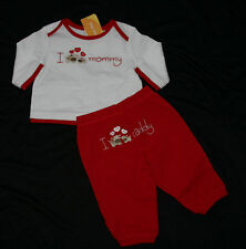 Gymboree Valentines Day I Love Mommy & Daddy Outfit NWT