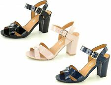 F10170- Ladies Spoton Synthetic Heeled Sandals 3 Colours- Great Price