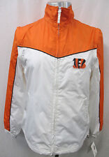 Cincinnati Bengals Women's M, L Full-Zip Jacket Orange & White NFL A3TLB