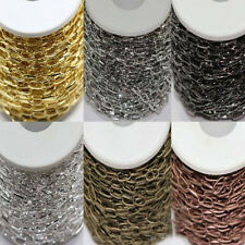 1/10M Alloy Plated Metal Cross Chains Jewelry Makings 6Colors U Pick 10x5MM DIY