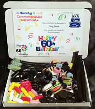 Liquorice Retro Sweet Gift Box Personalised Allsorts 70th Birthday Fathers Day