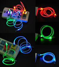 Micro USB Charge Data Sync Cable LED Visible Light  for Android Samsung Sony hTC
