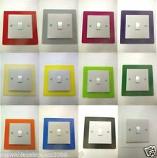 Single Switch Surround Colour Acrylic Perspex Finger Plate Decorative Trim