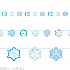 7ft Christmas Party Winter Elegant Shimmer Snowflakes Cutout Banner Decoration