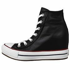 Converse Chuck Taylor All Star Platform Plus Black White Womens Shoes 544926C