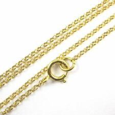 22K Gold plated Sterling Silver Vermeil Necklace 1mm Rolo Chain (All Sizes)