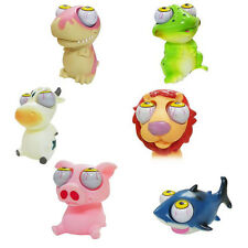 Funny 3D Animal Doll Stress Relief Squeeze Explode Eye Kid Vent Soft Rubber Toy
