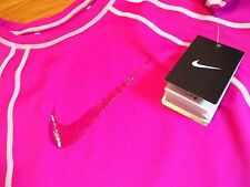 NWT, $48. MSRP, Womens Nike L/Sleeve Athletic Crew Neck Shirt # NESS5300 UPF 40+