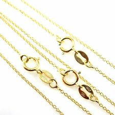 18k Gold Vermeil Sterling Silver Necklace Chain-Tiny Plain Cable Chain All Sizes