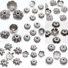 Lots Tibet Silver 100pcs Charms Spacer Bead Caps 6/7/8/9/10mm Jewelry Findings