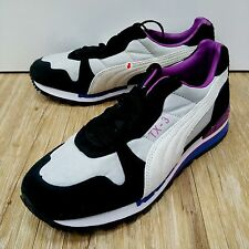 Puma TX-3 Nylon Wns Grey Black Purple Running Shoes with discoloration 355608-03