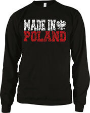 Made In Poland White Eagle Polska Polski Polish Pride Proud Long Sleeve Thermal