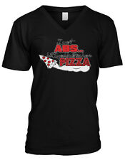 I Want Pizza But I Would Rather Have Pizza Humor Funny Joke Mens V-neck T-shirt