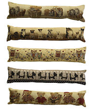 Animal Design Tapestry Draught Excluder Fabric Door Window Draft Guard Cushion