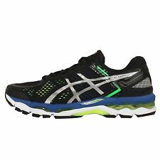 Asics Gel-Kayano 22 Black Silver Flash Yellow Mens Running Shoes T547N-9093