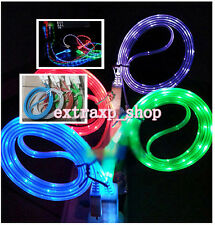 Glow Visible LED USB Data Sync Charger Charging Cable Line Cord for iPhone 4 4S