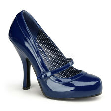 """Pin Up Couture Retro Blue 4.5"""" Heel Mary Jane Shoes Rockabilly 5 6 7 8 9 10 11"""