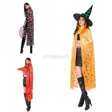 Adult Kids 1.2M Cape Halloween Vampire Party Costume Devil Witch Elves Cloak A33