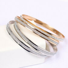 Elegant Gold/Silver Plated Stainless Steel Wristband Infinity Bangle Bracelet