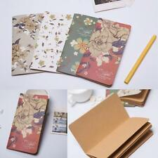 Vintage Girls Leaf Leather Cover Blank Notebook Journal Diary Daily Memo Notepad