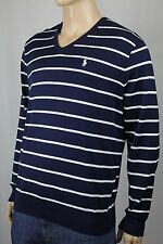 Polo Golf Ralph Lauren Navy Striped V-neck Sweater NWT $125