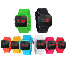 Unisex Kids Students Watch LED Digital Silicone Sports Watch Quartz Wrist Watch