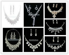 Charming Wedding Bridal Jewelry Crystal Rhinestone Crystal Necklace Earring Set