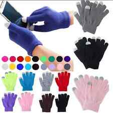 Cool Unisex Magic Touch Screen Gloves Smart Phone Tablet Knit Warmer Mittens FT5