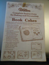 Wilton complete instructions for BOOK CAKES 1978 pamphlet