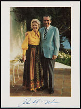 "Richard Nixon Signed Photograph with Wfe Pat Nixon , Measures 4.5 x 6.25"" !!"