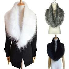 Elegant Women Winter Scarf Faux Fur Collar Scarf Warm Neck Wrap Shawl Stole