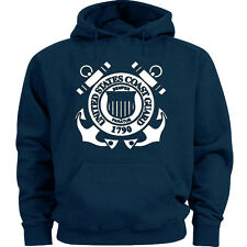 US Coast Guard sweatshirt hoodie blue men's sweats uscg gear warm ups hoodie