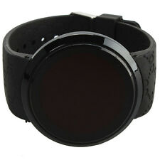 Cool Waterproof Mens Watch LED Touch Screen Date Silicone Wrist Black Watch New